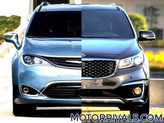 2017 Chrysler Pacifica vs 2016 Kia Sedona