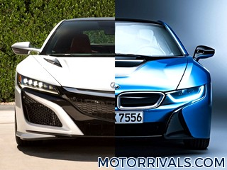 2017 Acura NSX vs 2016 BMW i8