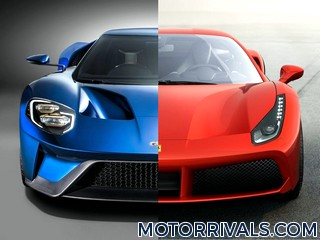 2017 Ford GT vs 2016 Ferrari 488 GTB